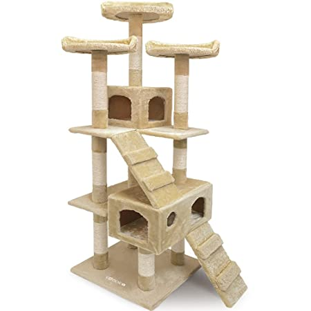 Deuba Large Cat Tree Scratching Post 175cm Large 3 Platform Kitten ...
