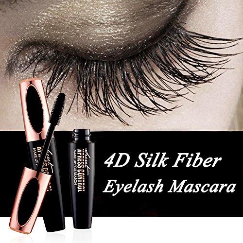 New 4D Silk Fiber Eyelash Mascara -Waterproof Long Lasting Eyelash Extension Warm Water Washable 4D Eyelash Mascara Eyelash Makeup for sale