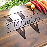 Contemporary Name Personalized Cutting Board - Engraved Cutting Board, Custom Cutting Board, Wedding Gift, Housewarming Gift, Anniversary Gift, Engagement W-004 GB