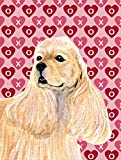 Caroline's Treasures SS4522GF Buff Cocker Spaniel Hearts Love Valentine's Day Flag, Small, Multicolor