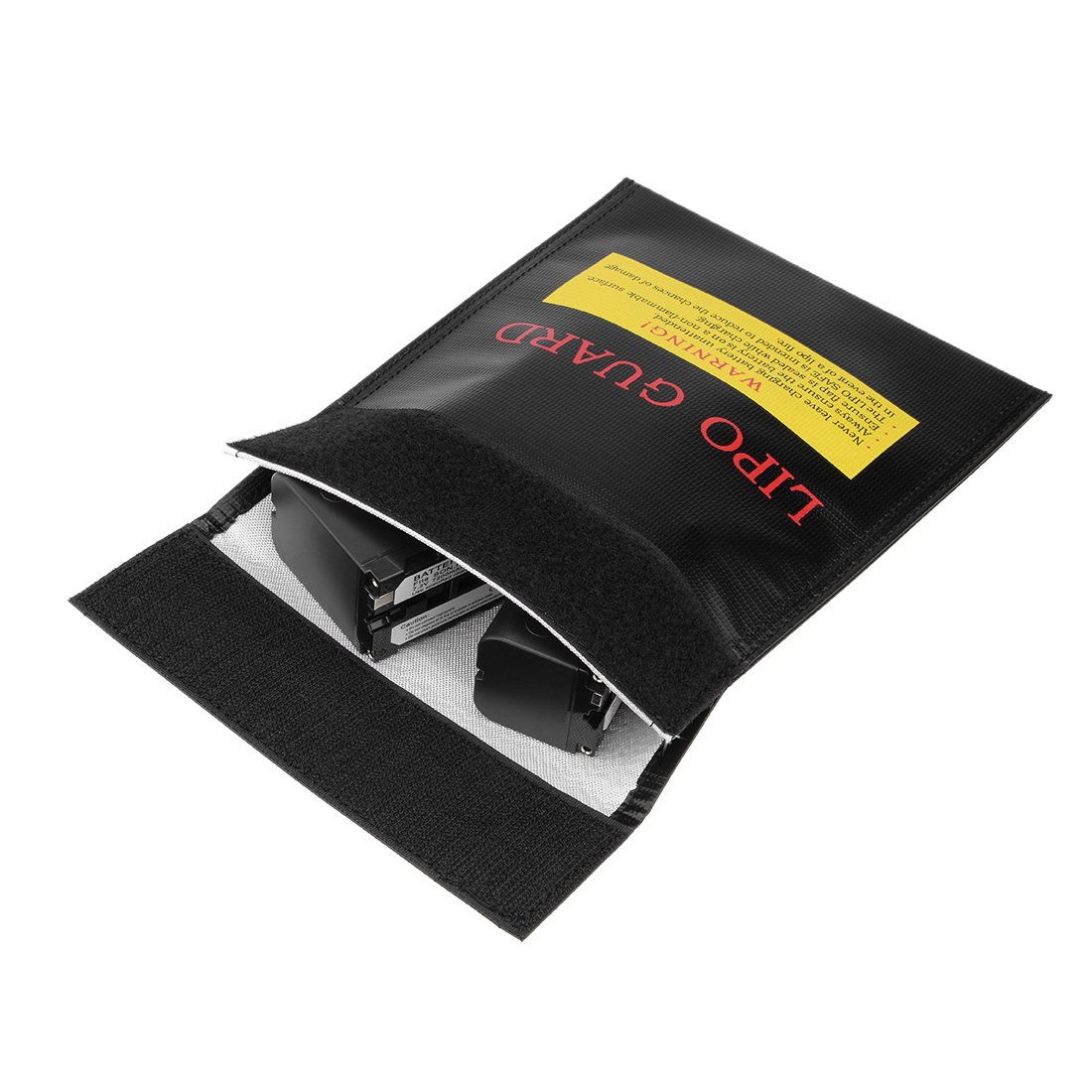 Sourcingmap/® Lipo feuerfeste Tasche Speicher Batteriew/ächter Ger/ätehalter 18cmx23cm Schwarz de
