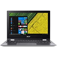 """Acer Spin 1 SP111-34N-P9C9 Convertible Laptop, Intel Pentium Silver N5000 Processor (4M Cache, up to 2.70 GHz), 11.6"""" FHD IPS Multi-Touch Screen, 4 DDR3, 128GB eMMC, Integrated, Win 10 Home (64-Bit)"""