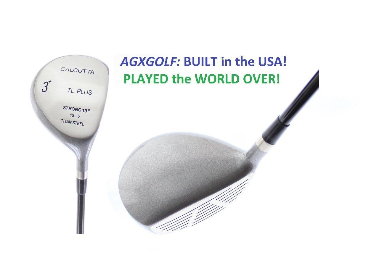 AGXGOLFメンズtl-plus 13度Strong 3フェアウェイウッドDriving木製wgraphiteシャフト+ヘッドカバー選択長& Flex Right Hand ; Fast Shipping 。Built In u.s.a 。 B07751PRDF レギュラー