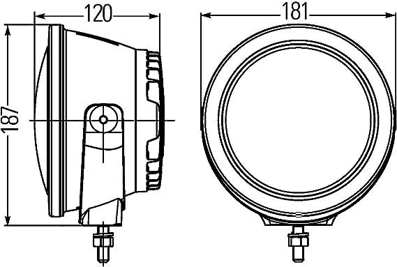 Hella 1f3 011 815 011 Luminator Compact Led Spotlight Auto