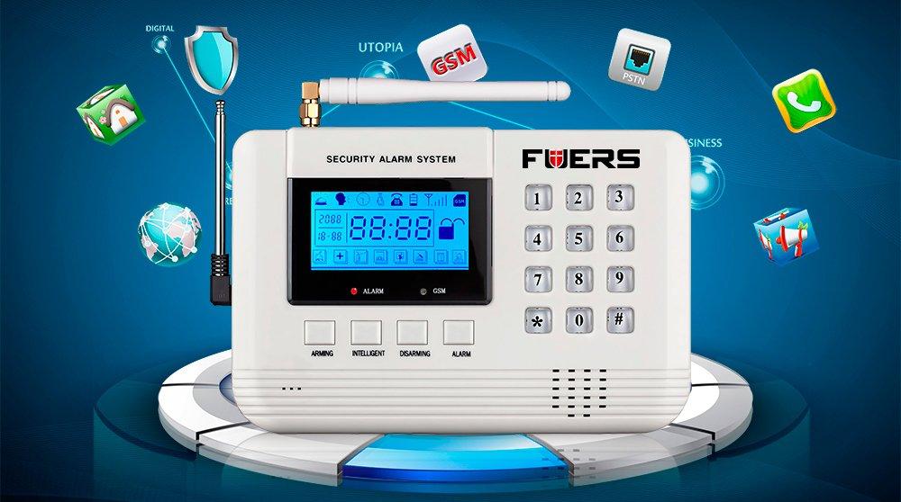 Amazon.com : Fuers 433mhz GSM PSTN SMS Home Burglar Alarm System ...