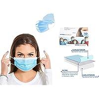 sacre solutions Cubrebocas tricapa certificado 50 Piezas , tapabocas de 3 capascon ajuste nasal oculto, industrialde…