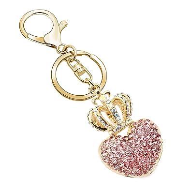 JJIA Llaveros para mujer, regalo de novia, corazón de amor y ...