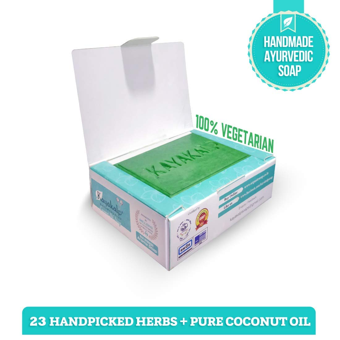 Kayakalp Nagajothi Herbal Ayurvedic Coconut Oil Soap (125 g, Pack of 3 Pieces) by Kayakalp