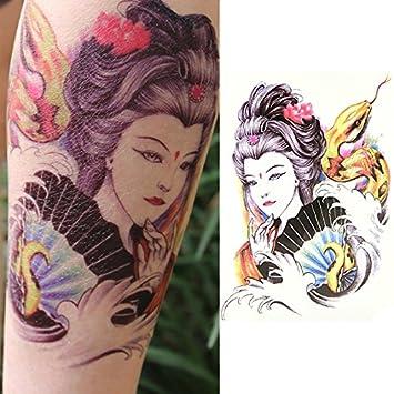 Oottati Tatuajes Temporales Old School Serpiente Geisha (2 hojas ...