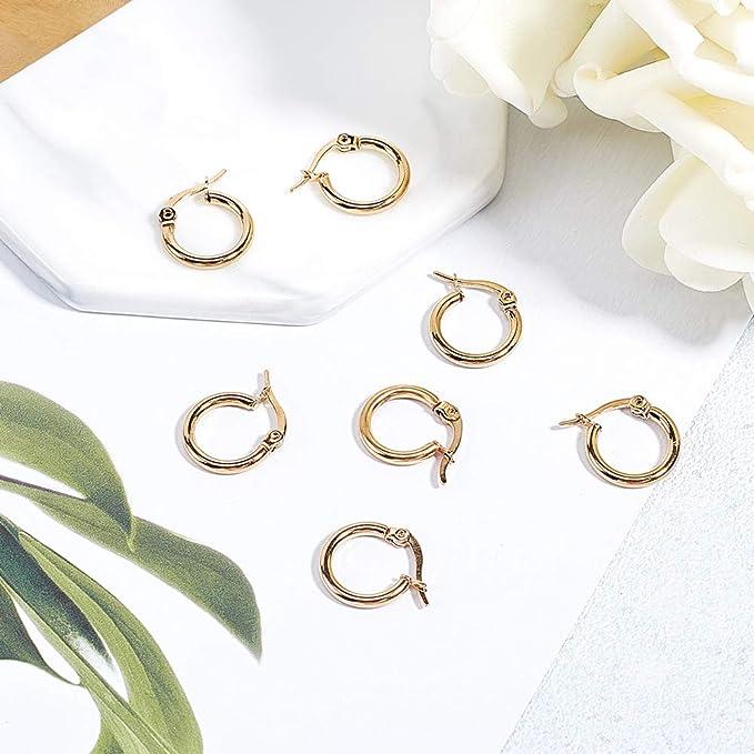 Fashion Ear Piercing CALIN Boucles d/'oreilles Étoile Créoles Boucles D/'oreille Charme Bijoux Décor