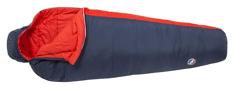 Big Agnes Husted 20 (FireLine Pro) Mummy Sleeping Bag, Long, Left Zip, Navy/Red [並行輸入品] B07R4TDDSJ