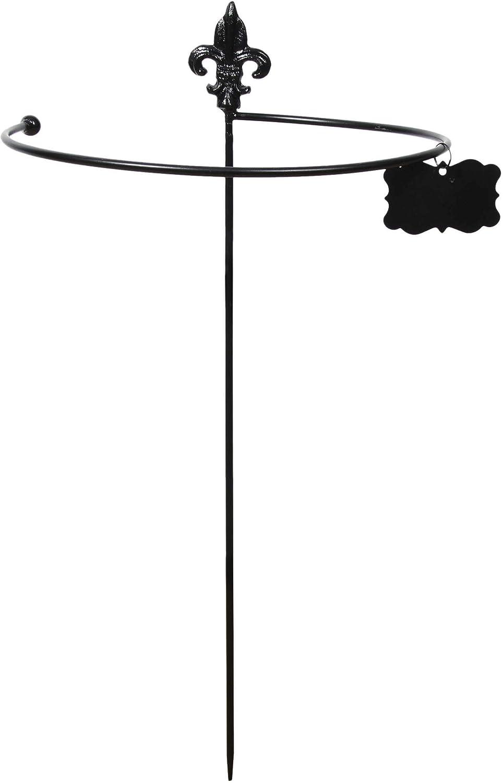 Tutor redondo de acero con flores de lirio: Amazon.es: Jardín