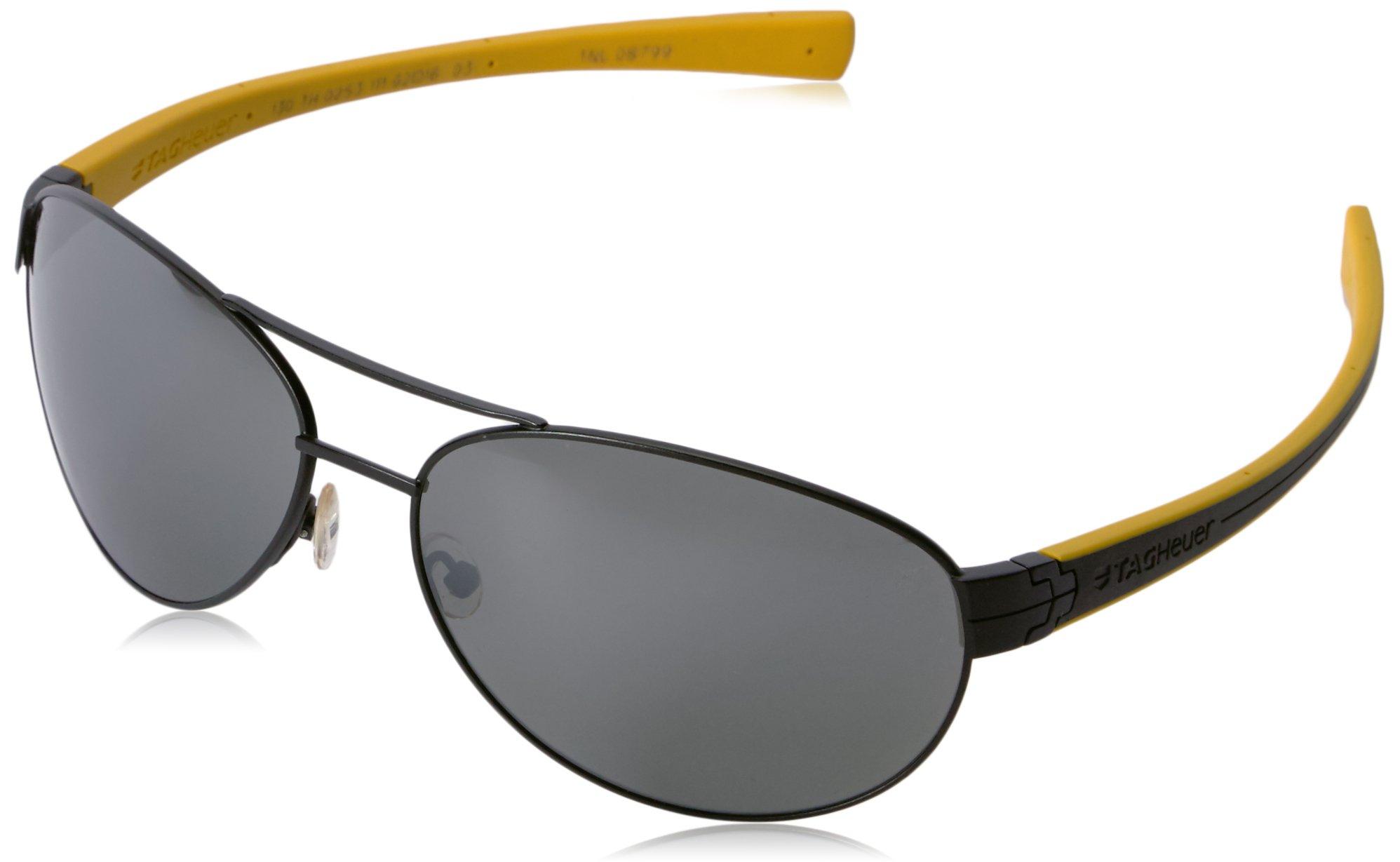 02c24e3bfbf6d TAG HEUER 66 0253 111 621603 Polarized Oval Sunglasses BLACK 62 mm