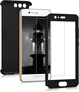 kwmobile Cover for Huawei P10 - Shockproof Protective Full Body Case with Screen Protector - Metallic Black