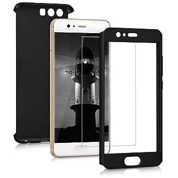 kwmobile Funda para Huawei P10 - Carcasa Protectora Completa con [Cristal Templado] - Cover con Protector de Pantalla [Duro]