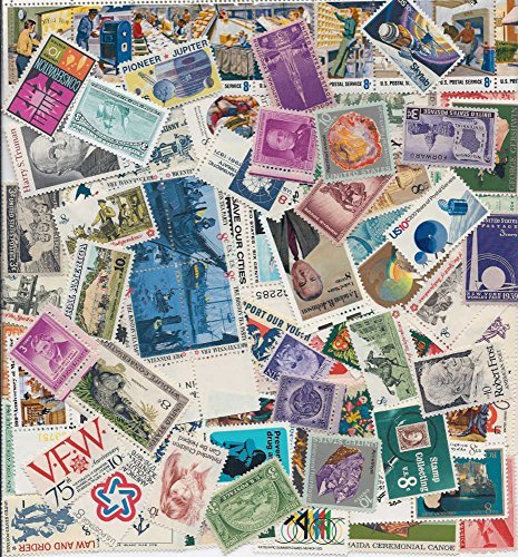 Antique Toys Stamps - 100 Different Mint U.S. Stamps - at Least 10 Stamps Over 50 Years Old