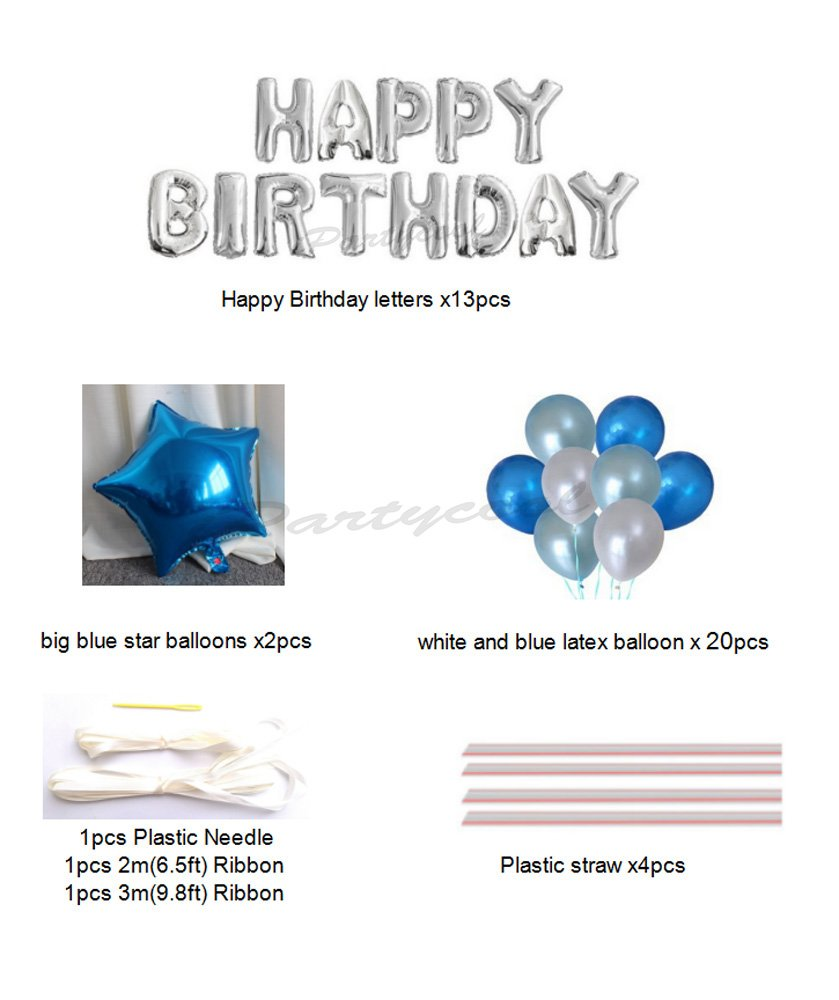 Amazon Happy Birthday Balloons Aluminum Foil Banner For Party Decorations And Supplies HB2S Toys Games