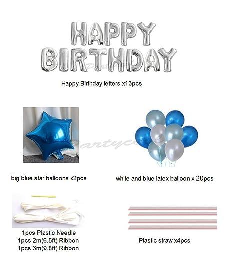 Amazon Happy Birthday Balloons Aluminum Foil Banner Balloons