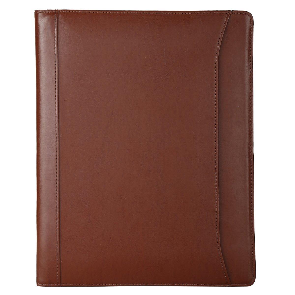 Leathario (Marrón-A4) Marcas de Portafolio de Carpeta Plegable de Mano de PU para Hombres, Diseñado para Negocio y para Tomar notas: Amazon.es: Oficina y ...
