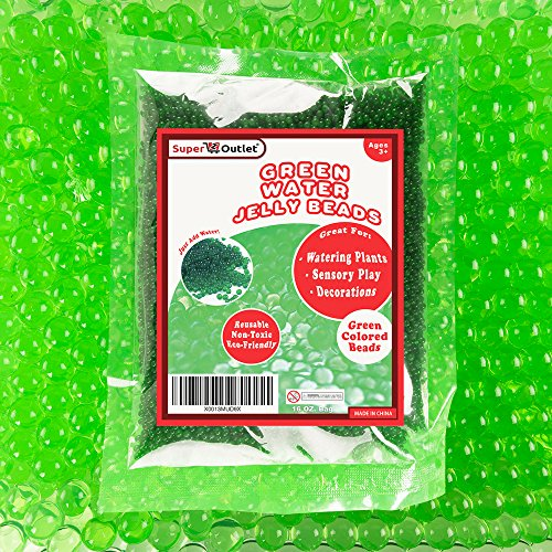 1 Pound Bag of Apple Green Water Gel Pearls Beads for Vase Filler, Home Decoration, Wedding Centerpiece, Plants, Toys, Education (Makes 12 Gallons) - Apple Bead