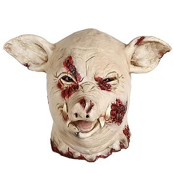 INKERSCOOP Máscara Animal de Halloween Látex Cerdo Papel Aldult --- Un tamaño