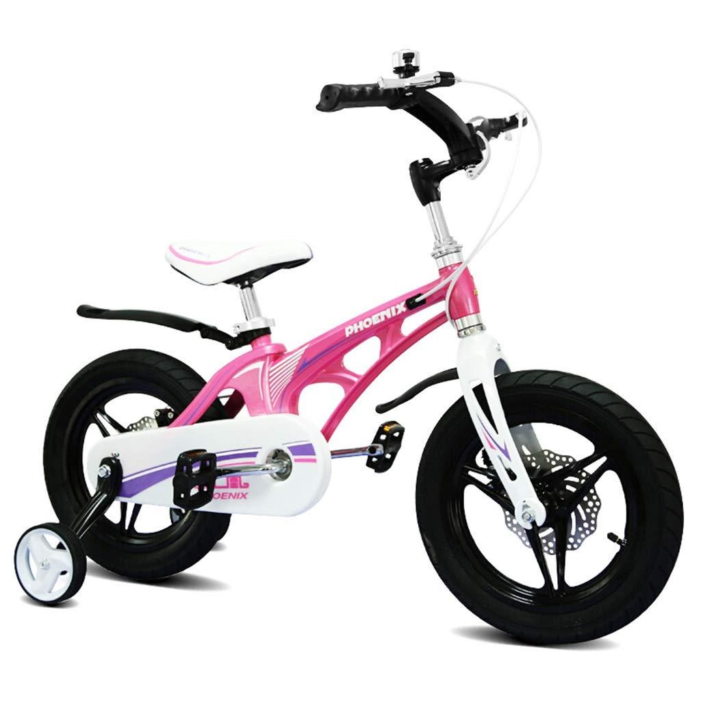 子ども用自転車 子供用自転車 マウンテンバイク 男の子用女の子用自転車 市内スポーツ用自転車、補助輪付きマグネシウム合金フレーム (Color : Pink, Size : 16inches) 16inches Pink B07SDN43VZ