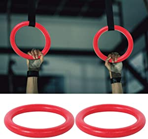 GOTOTOP Gymnastic Rings and Straps ABS Gym Ring Home Gym Non-Slip Workout Ring with Strap Heavy Duty for Gymnastics, Crossfit, Fitness Training