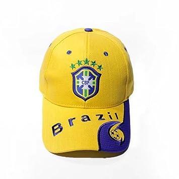 ZZ 2018 Gorra de Fútbol de la Copa del Mundo Sombrero Deportivo Brasil  Ventilador Suministros Recuerdos de Regalos dffbf0234bf