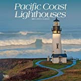 Pacific Coast Lighthouses 2020 12 x 12 Inch Monthly Square Wall Calendar, USA United States of America West Coast Scenic Nature