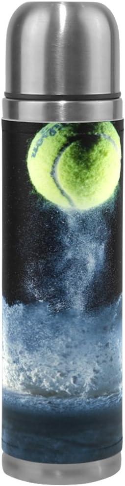 a prova di perdite Eslifey Borraccia termica in acciaio inox con sfere da tennis e riflessi