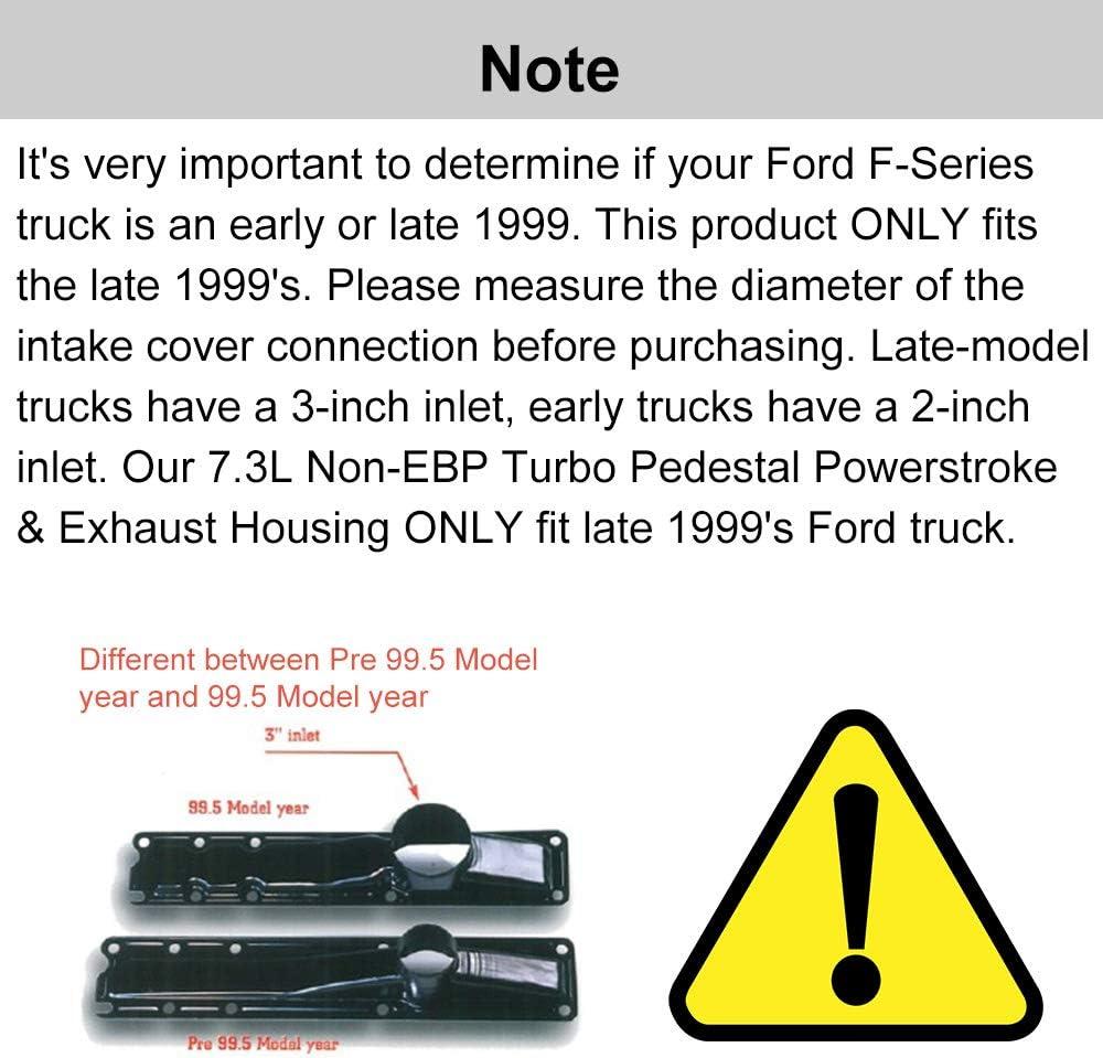 SPELAB Non-EBP Valve 7.3L Turbo Pedestal Powerstroke /& Exhaust Housing for Ford F-series 1999.5-2003 Year Model