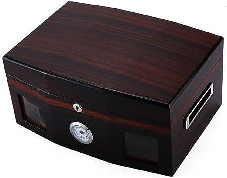 HYZXJHE Caja de Puros, humidor de cigarros Caja de Puros de Madera de Cedro Caja de Puros humidor 100 Caja de cigarros Humedad Constante sellada: Amazon.es: Hogar