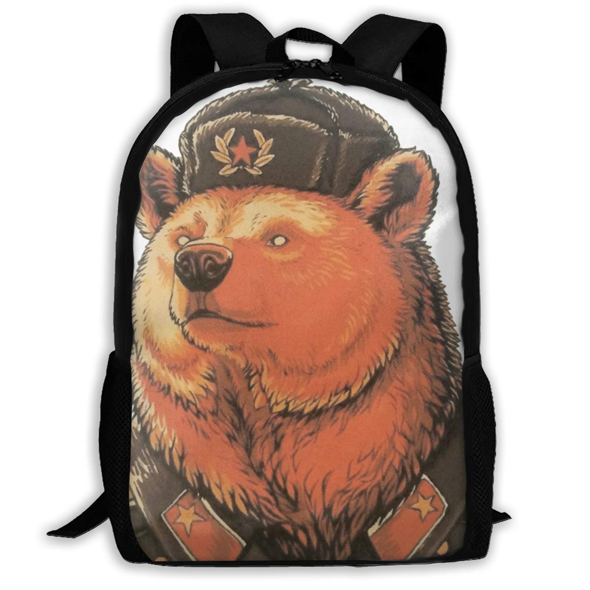 jhguihuyftyrtytgjkh Casual Backpack Bear Police 3D Printing School Bags for Boys Girls Unisex Adult Shoulder Bag ILY Bag Outdoor Orts