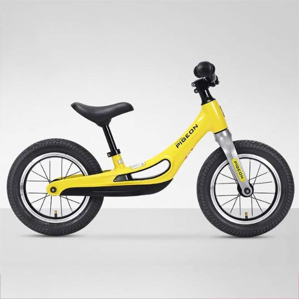 K-G Bicicleta Infantil Rueda Trasera Hijos La Bici por 2-8 Año Bicicleta De Equilibrio De Peso Ligero De La Bicicleta Bici Vieja del Niño con El Asiento Ajustable (Color : Yellow): Amazon.es: