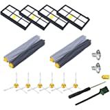 14PCS 800/900 Series Replenishment Kit For iRobot Roomba 860 870 880 960 980 Robotic Vacuum Cleaner,14PCS Vacuum Accessories with 6 Side Brushes ● 4 HEPA Filters ● 2 x Set of AeroForce