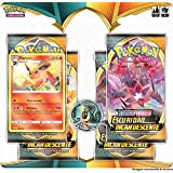 Blister Quádruplo Pokémon Flareon Espada e Escudo 3 Escuridão Incandescente