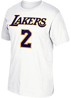 adidas Lonzo Ball Los Angeles Lakers White Name and Number T-shirt