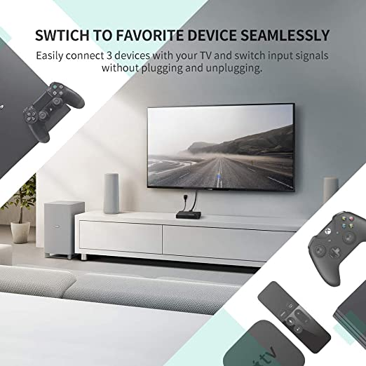 UGREEN HDMI Switch Conmutador HDMI 3D 4K, 3 Entrada x 1 Salida ...