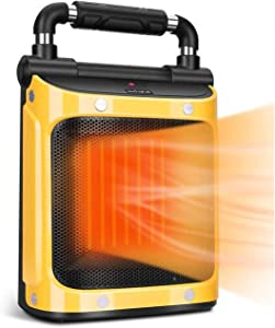 Indoor Heater - Space Heater for Indoor Use, 1500W with Adjustable Thermostat, Fan Garage Heater, Tip-Over & Overheat Protection, Ceramic Heaters for Indoor Use, Portable Heater, Electric Heater
