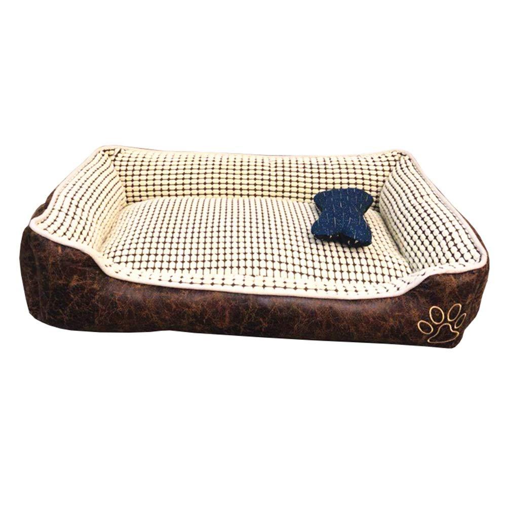 1 LRyan Dog Bed, Soft Washable Warm Luxury Pet Basket Dog Sofa Bed Plush Waterproof Dog Beds Pet Bed Pet Nest (color   7, Size   Xl)