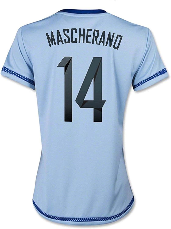 adidas MASCHERANO #14 Argentina Home Soccer Jersey 2015 (Women) (XS) Sky Blue