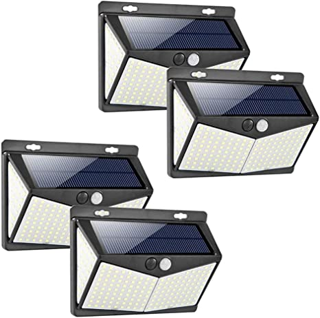 FEE-ZC LED Solar Wall Light Three-Side Illuminated Courtyard Street Light Outdoor Waterproof Lighting Body Induction Safety Light Fence Light (2 Pack): Amazon.es: Deportes y aire libre
