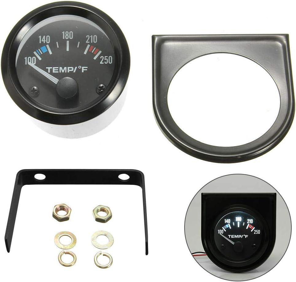 L-DiscountStore 2  52mm 100-250 /° F Temp/érature de leau Temp/érature Merter Jauge 12V V/éhicule Universel