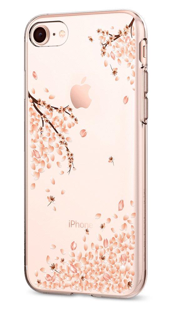 new concept 7ec40 34f29 Spigen Liquid Crystal [2nd Generation] Designed for Apple iPhone 8 Case  (2017) / Designed for iPhone 7 Case (2016) - Blossom