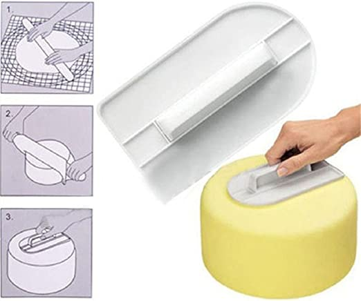 1PC Plastic Cake Smoother Polisher Tools Cake Decorating Smoother DIY Baking