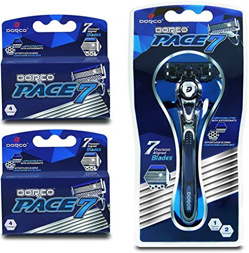 Dorco Pace 7 - World's First and Only Seven Blade Razor System- Value...