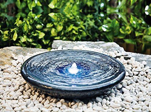 Heissner 016934-00 - Fuente para jardín (Piedra), Color Negro: Amazon.es: Jardín