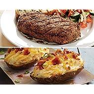 Kansas City Steaks 8 (5oz.) Top Sirloin and 8 (5oz) Cheddar Bacon Twice Baked Potatoes