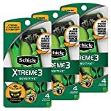 Schick Xtreme 3 Senstive Skin Disposable Razors for Men With New Heavyweight Handle, 12 Count