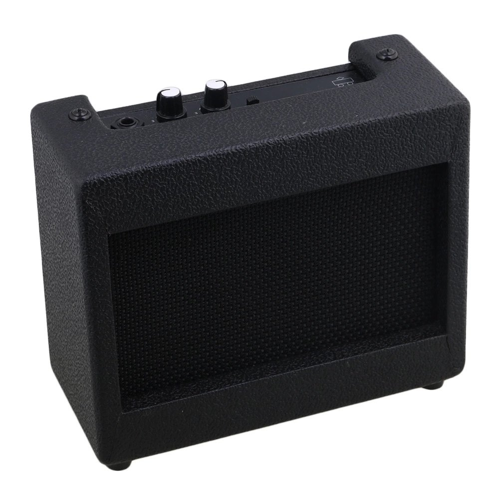 Plastic Black Guitar Amplifier 9V/5W Easy-carry Small Guitar Loudspeaker